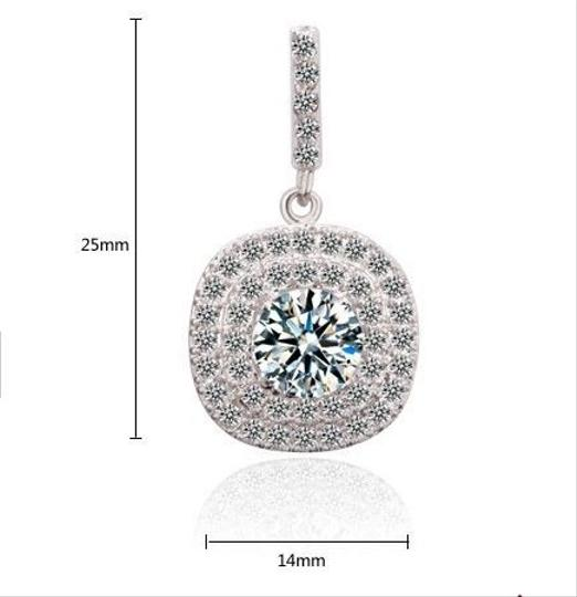 CasaDiBling Platinum Plated Stunning Drop Earrings