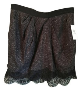Jessica Simpson Tulip Mini Skirt Black & Grey