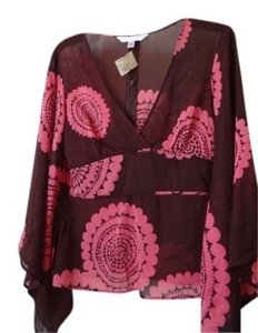 Trina Turk Top Pink & Brown