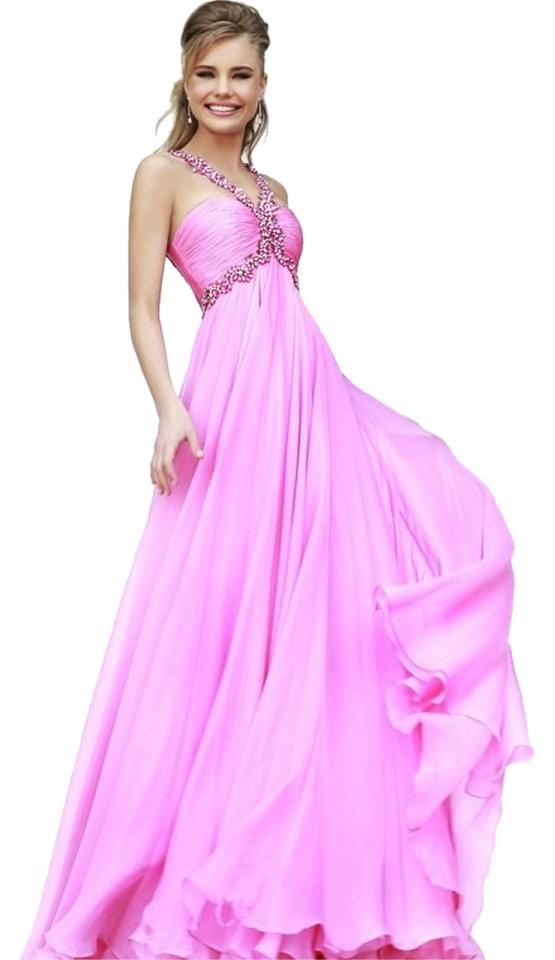 Sherri Hill Pink New 11072 In Long Formal Dress Size 10 (M) - Tradesy