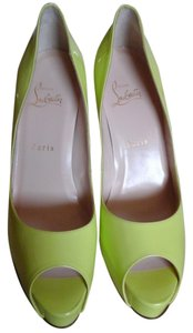 Christian Louboutin Chartreuse (yellow-green) Platforms