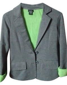 Rue 21 Spring Gray and Lime Green Blazer
