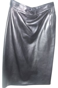 Leather Pencil Skirt black