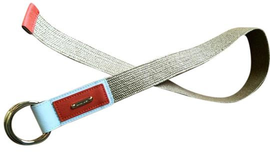 Michael Kors Leather accented raffia belt Image 0