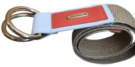 Michael Kors Leather accented raffia belt Image 1
