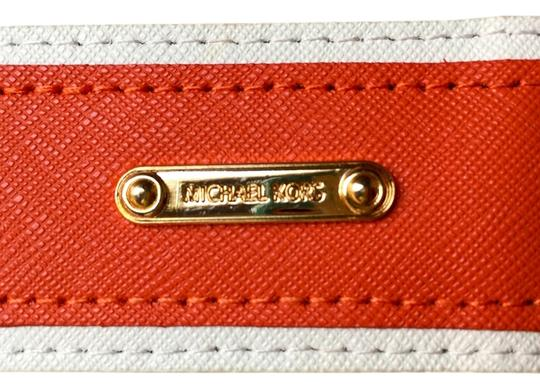 Michael Kors Leather accented raffia belt Image 2