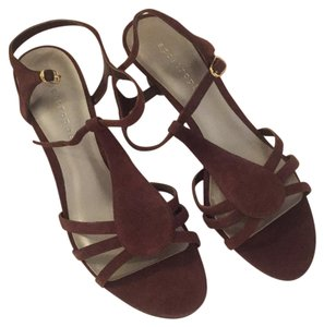 Apostrophe Brown suede Wedges