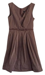 Lida Baday short dress Brown with cream stripes on Tradesy