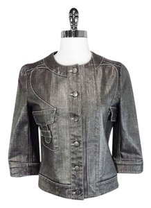 Stella McCartney Denim Silver Womens Jean Jacket