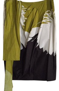 Max Mara Skirt Green, cream and brown