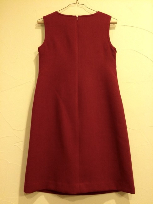 Talbots short dress Red dark Wool Cocktail Wedding Pettite on Tradesy