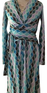ISSA London Retro Muit Print Wrap Dress