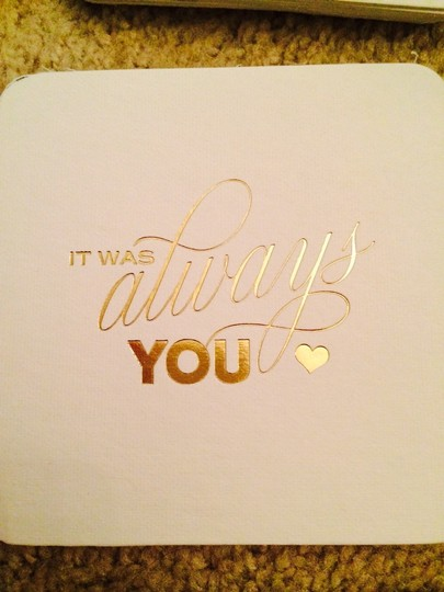 BHLDN White & Gold Letterpress Coasters Reception Decoration Image 1