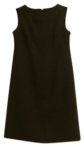 Talbots short dress Navy Black Wool Cocktail on Tradesy