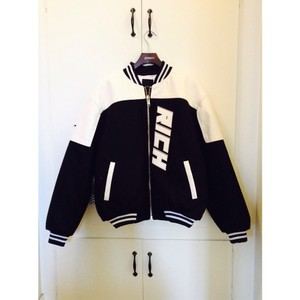 Joyrich Riding Varsity Black/Ivory Jacket