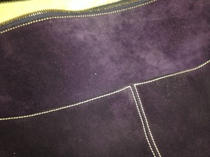 Kate Spade Purple Suede Hobo Bag