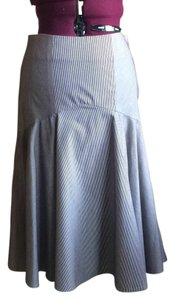 Diane von Furstenberg Skirt Navy/neutral and white