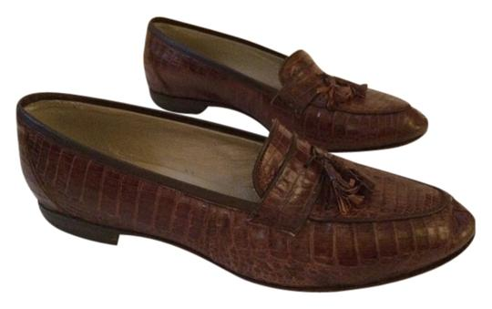 Genuine Crocodile Brown Flats