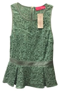 Pookie and Sebastian Summer Peplum Green Lace Top mint