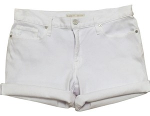 Joie Cuffed Shorts White