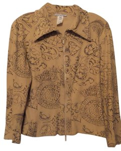 Alberto Makali Flexible All Season Lightweight Suede Large Tan Jacket