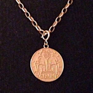 Other 14K Yellow Gold Gemini Pendant Charm