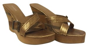 bebe Gold Wedges
