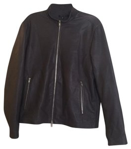 Theory Dark grey Leather Jacket