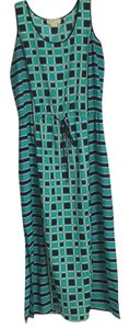 Teal, gold, black Maxi Dress by MICHAEL Michael Kors