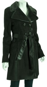 Via Spiga Luxurious Soft Faux Shearling Trench Coat