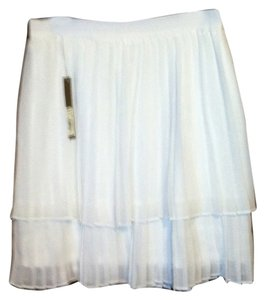 LC Lauren Conrad Pleated Mini Skirt White