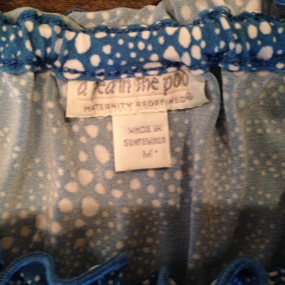 A pea in the pod blue maternity casual dress size 6 s 28 tradesy a pea in the pod blue maternity casual dress ombrellifo Images