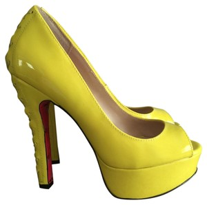 Betsey Johnson Neon Yellow Platforms