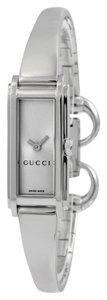Gucci Silver Dial Silver tone Stainless Steel bangle Designer Ladies Dress Watch