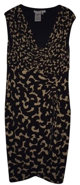 Maggy London short dress Brown and Tan Slit Skirt Size 14 on Tradesy