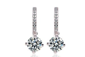 CasaDiBling Stunning Hoop 18k Platinum Plated Earrings