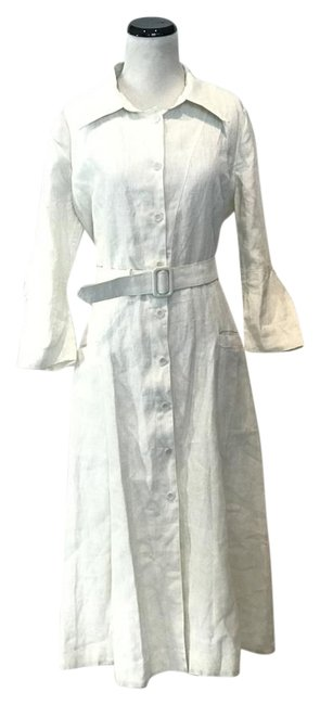 Item - Off White Linen Long Casual Maxi Dress Size 2 (XS)