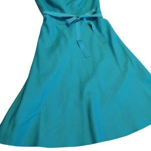 Ann Taylor short dress Turquoise Teal Strapless on Tradesy