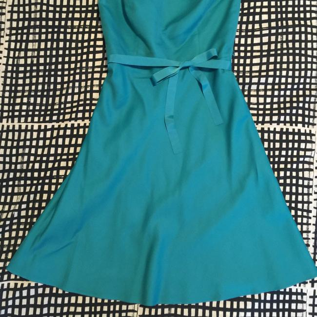 Ann Taylor short dress Turquoise Teal Strapless on Tradesy Image 1