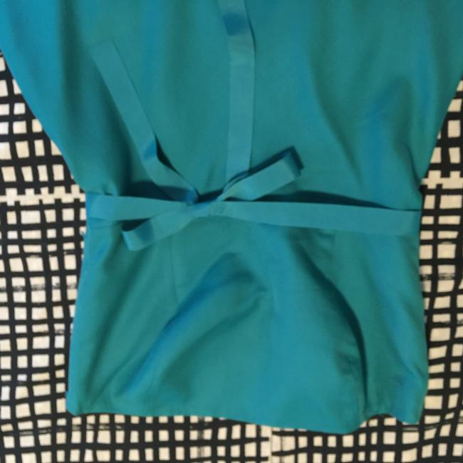 Ann Taylor short dress Turquoise Teal Strapless on Tradesy Image 3