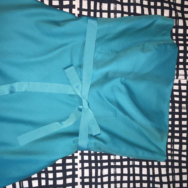 Ann Taylor short dress Turquoise Teal Strapless on Tradesy Image 4