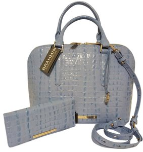 Brahmin Satchel in Sky-Blue