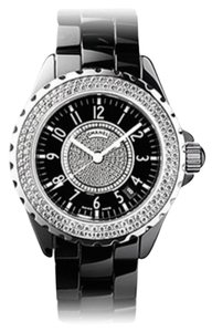 Chanel J12 Black Ceramic Diamond Bezel and Dial Watch H1709