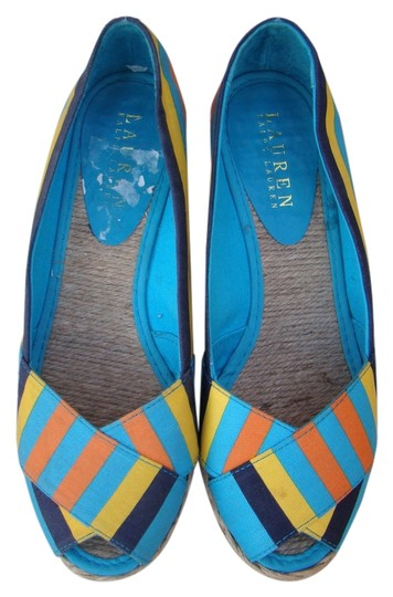 Preload https://img-static.tradesy.com/item/14569393/ralph-lauren-blue-orange-and-yellow-espadrille-wedges-size-us-6-regular-m-b-0-1-540-540.jpg
