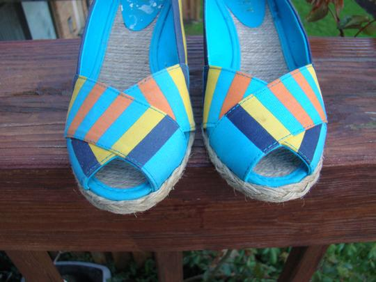 Ralph Lauren BLUE, ORANGE AND YELLOW Wedges Image 1