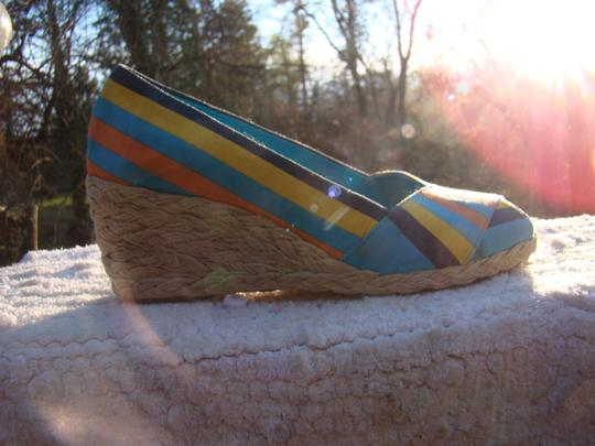 Ralph Lauren BLUE, ORANGE AND YELLOW Wedges Image 2