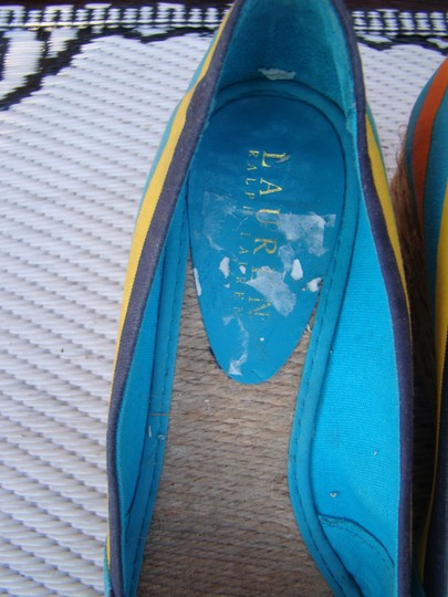Ralph Lauren BLUE, ORANGE AND YELLOW Wedges Image 3