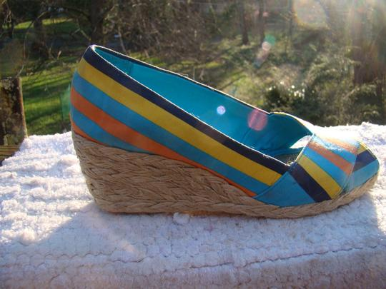 Ralph Lauren BLUE, ORANGE AND YELLOW Wedges Image 5