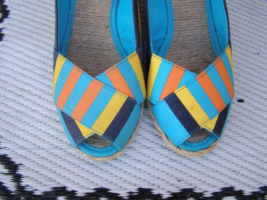 Ralph Lauren BLUE, ORANGE AND YELLOW Wedges Image 6
