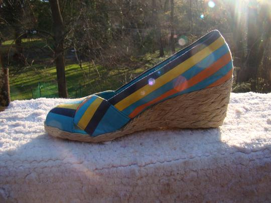Ralph Lauren BLUE, ORANGE AND YELLOW Wedges Image 7